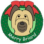 Briard Christmas Ornaments