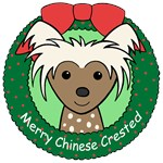 Chinese Crested Christmas Ornaments