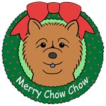 Chow Chow Christmas Ornaments