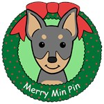 Miniature Pinscher Christmas Ornaments