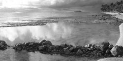 Kaaawa at low tide