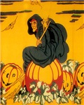 Witch On Pumpkin
