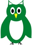 Green And White Owl