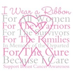 I Wear a Ribbon Breast Cancer Shirts
