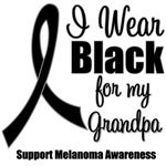 I Wear Black Ribbon (Grandpa) Melanoma T-Shirts