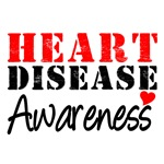 Heart Disease Awareness Grunge T-Shirts & Gifts