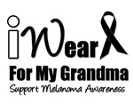 I Wear Black Ribbon For My Grandma T-Shirts & Gift