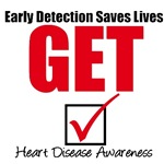Early Detection Saves Lives Heart Disease Shirts