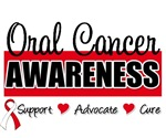 Oral Cancer Awareness Badge T-Shirts & Gifts