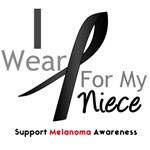 Melanoma I Wear Black Ribbon For My Niece Shirts