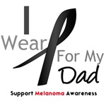 Melanoma I Wear Black For My Dad Shirts