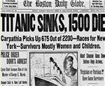 Titanic Sinks, 1500 Die