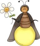 Funny Firefly With Daisy