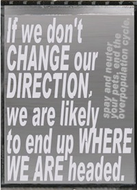 If we don't change our direction