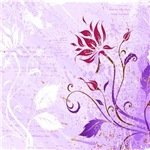 Grunge Purple Red_Floral