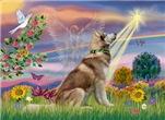 CLOUD ANGEL<br>& Siberian Husky(RED)