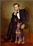 ABRAHAM LINCOLN<br>& Red Doberman Pinscher