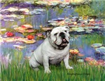 LILIES (#2)<br>& White English Bulldog