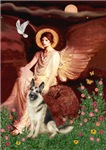 SEATED ANGEL<br>& German Shepherd