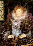 QUEEN ELIZABETH I<br>& Yorkshire Terrier