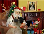 SANTA AT HOME<br>With Bull Mastiff (#7)