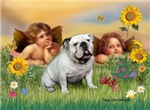 CHERUBS <br>& English Bulldog (Br-white)
