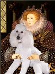 QUEEN ELIZEBETH<br>& White Standard Poodle