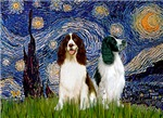 STARRY NIGHT<br> 2 English Springer Spaniels