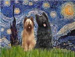 STARRY NIGHT<br>& 2 Briards