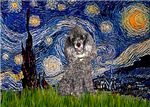 STARRY NIGHT<br>& Silver Poodle (Toy/Min)