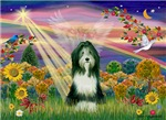 AUTUMN ANGEL<br>& Bearded Collie (slate)