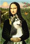 MON LISA & HER<br>Siberian Husky (BW)