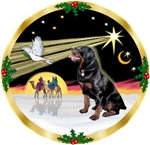 CHRISTMAS DOVE<br>& Rottweiler