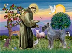 SAINT FRANCIS<br>& Giant Schnauzer (PS)