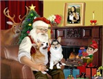 SANTA AT HOME<br>& 2 Welsh Corgis (Pem) (C)#P1
