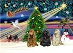 CHRISTMAS MAGIC<br>& 3 Cocker Spaniels