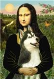 MONA LISA <br>& Siberian Husky(BW)
