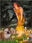 MIDSUMMER'S EVE<br>& English Bulldog (Br-white)