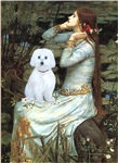 Ophelia (seated)<br>With a Maltese (B)