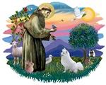 St. Francis #2 &<br> American Eskimo Spitz (K)