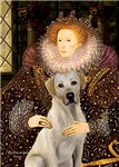 QUEEN ELIZABETH I &<br>Yellow Labrador