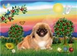 BRIGHT COUNTRY<br>& red Pekingese