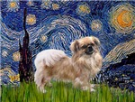 STARRY NIGHT<br>& Tibetan Spaniel (sit)