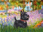GARDEN AT GIVERNEY<br>With a Scottish Terrier