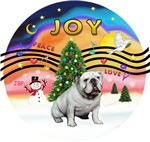 CHRISTMAS MUSIC #2<br>White English Bulldog