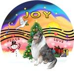 CHRISTMAS MUSIC #2<br>Blue Merle Collie