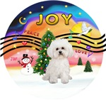 CHRISTMAS MUSIC #2<br>Bichon Frise (#2) (replace)