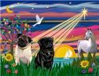 MAGICAL NIGHT<br> & 2 Pugs