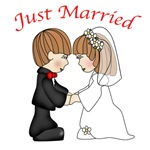 Cute Just Married Gifts and Apparel