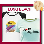 Long Beach T-shirts, tees, totes